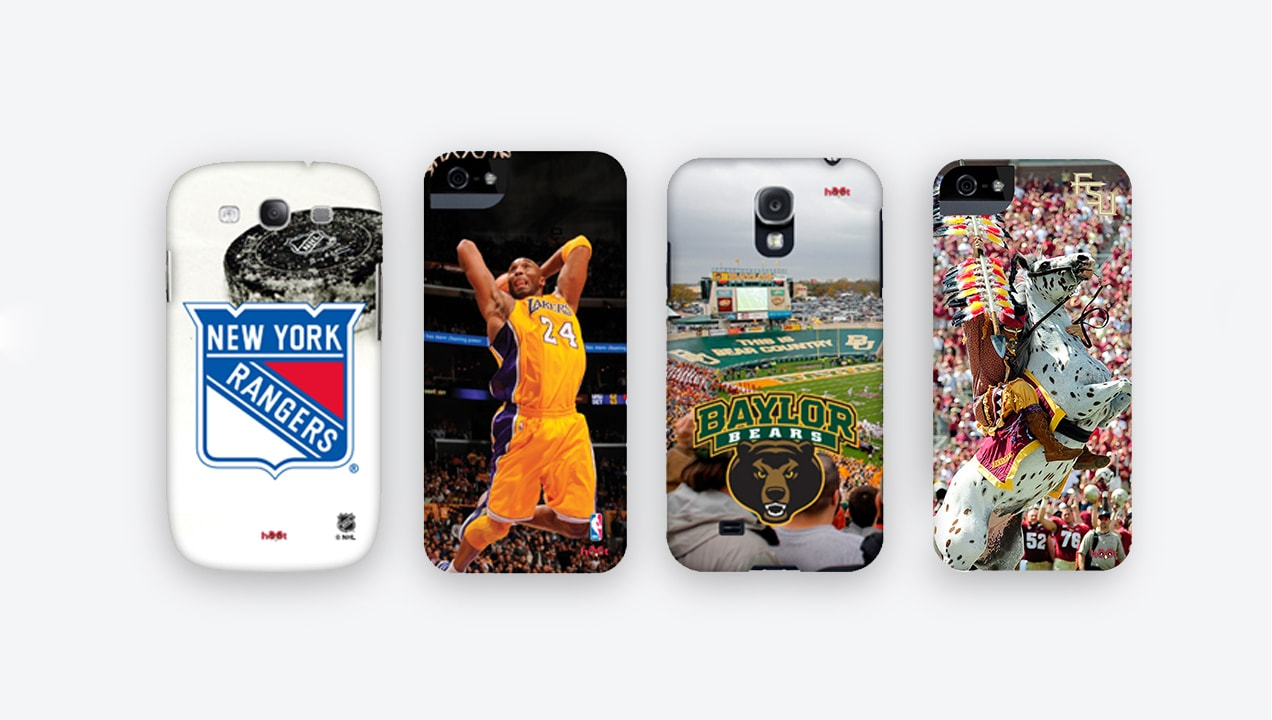 Hootcase displays sport cases for mobile