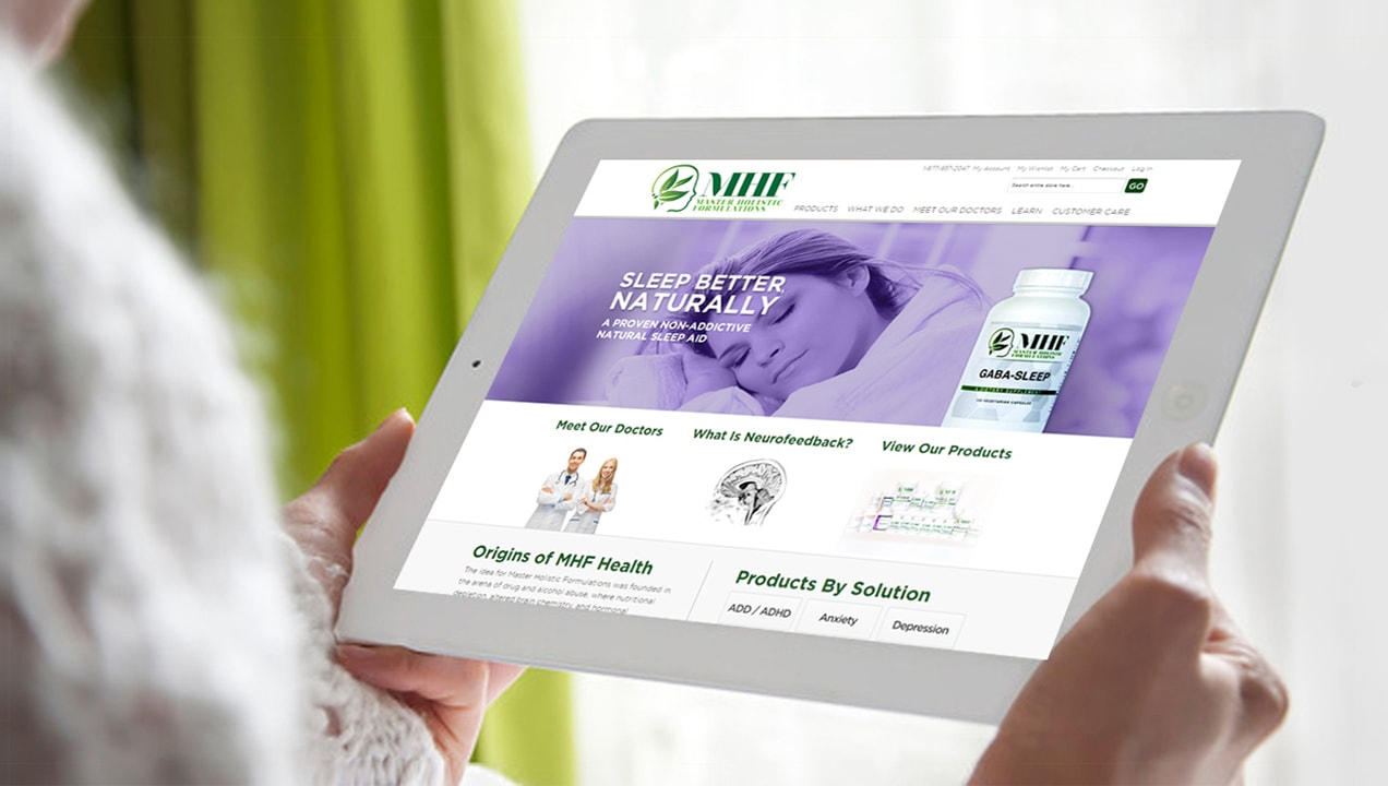 MHF Ecommerce nutritional supplement site.