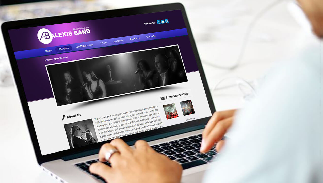 Alexis Band Enhanced Site Redesign