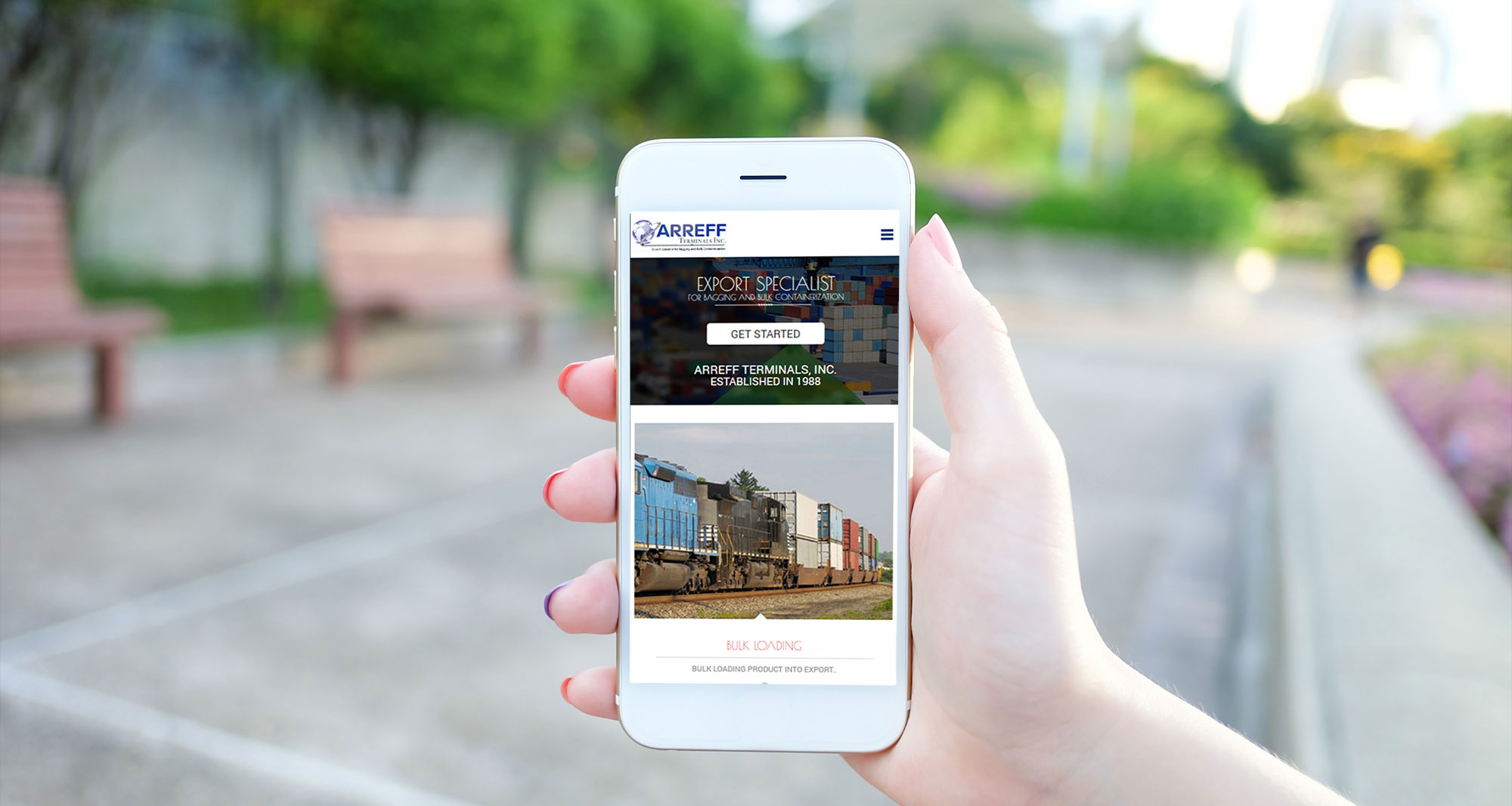 Arreff Terminals Inc. Immaculate Mobile Responsive Site