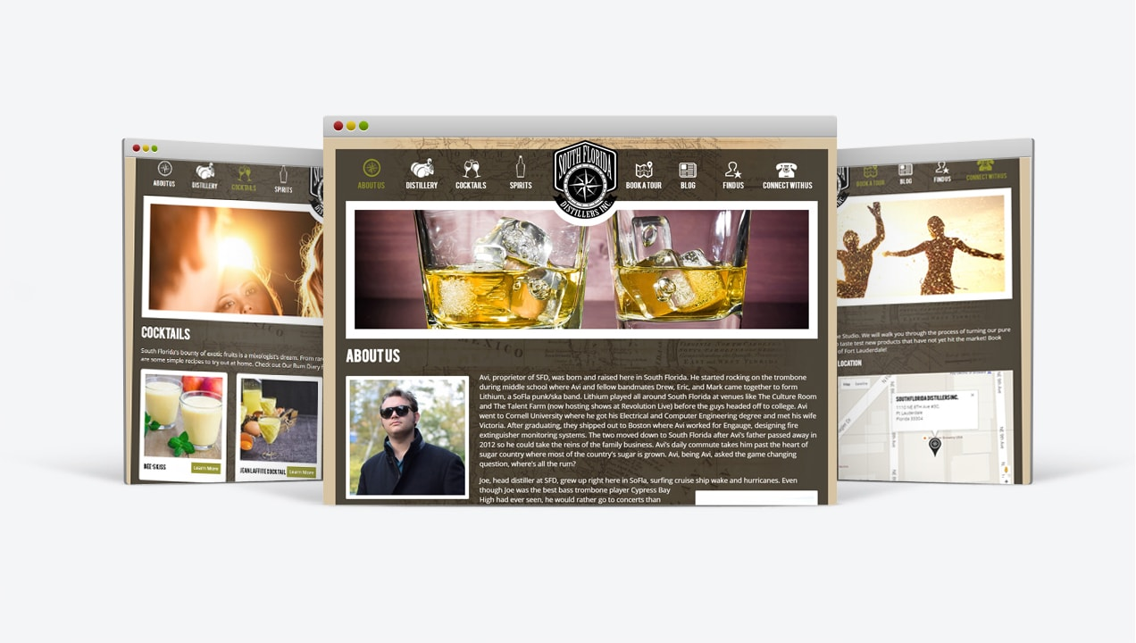 South Florida Distillers modern subpages