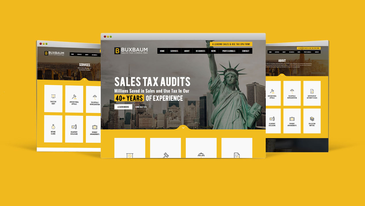 Buxbaum Sales Tax Consulting receives stunning restructured website