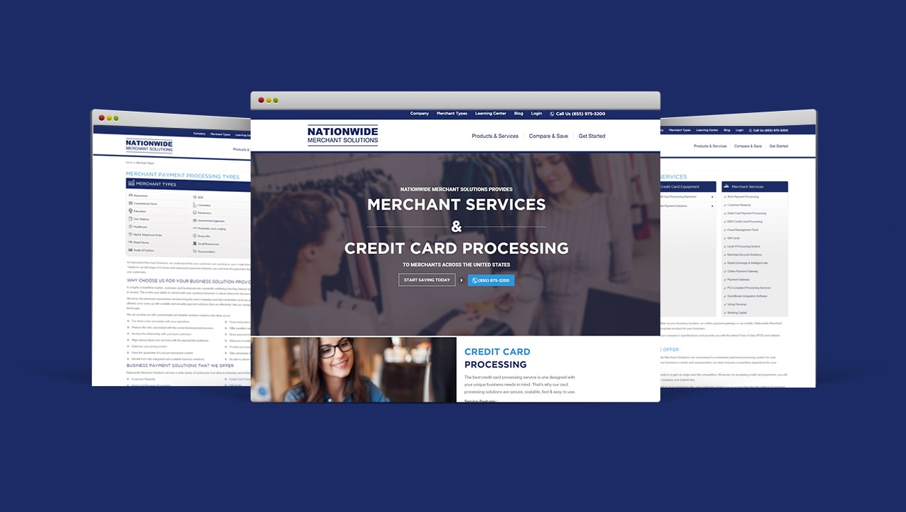 Nationwide Merchant Solutions state-of-the-art-website