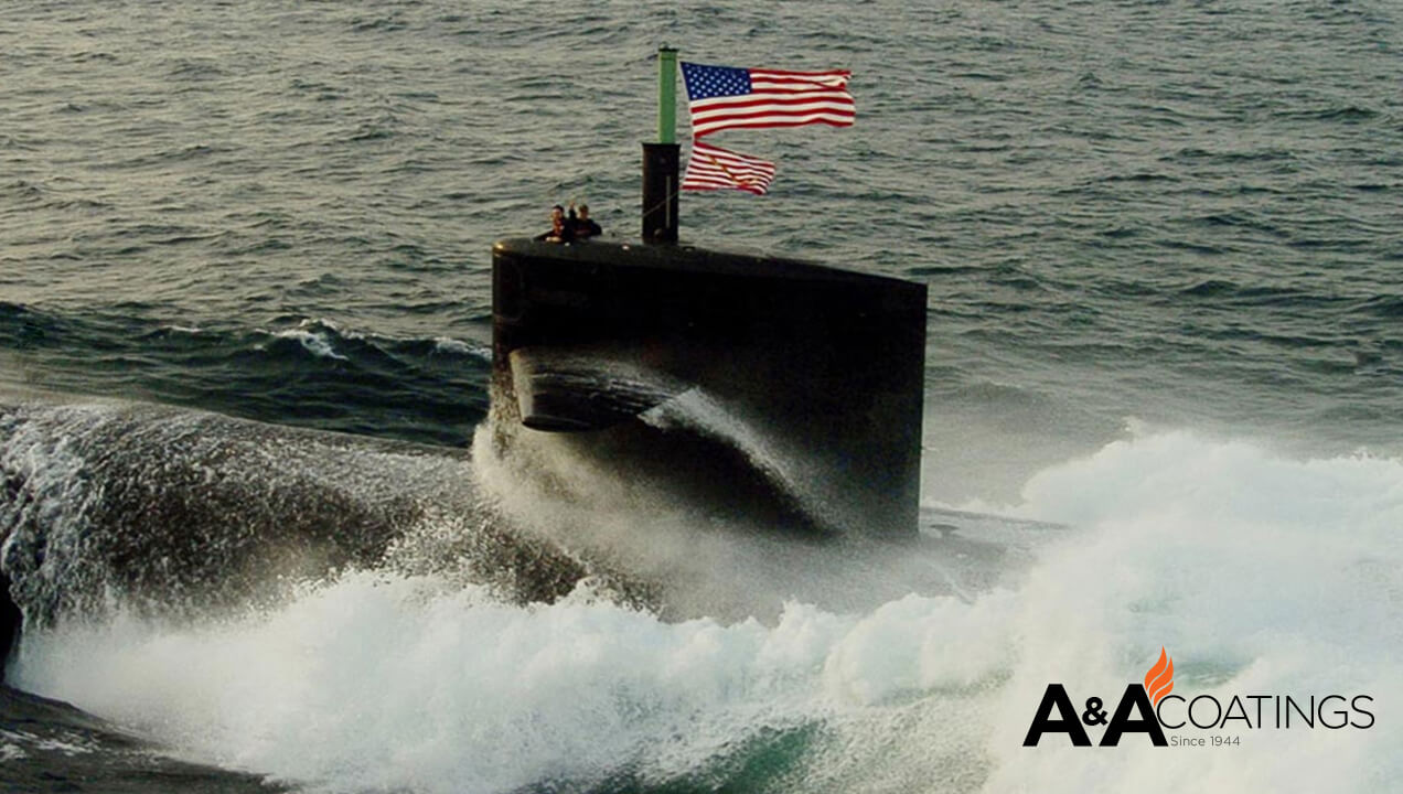 A&A Thermal Spray Submarine Banner Graphic