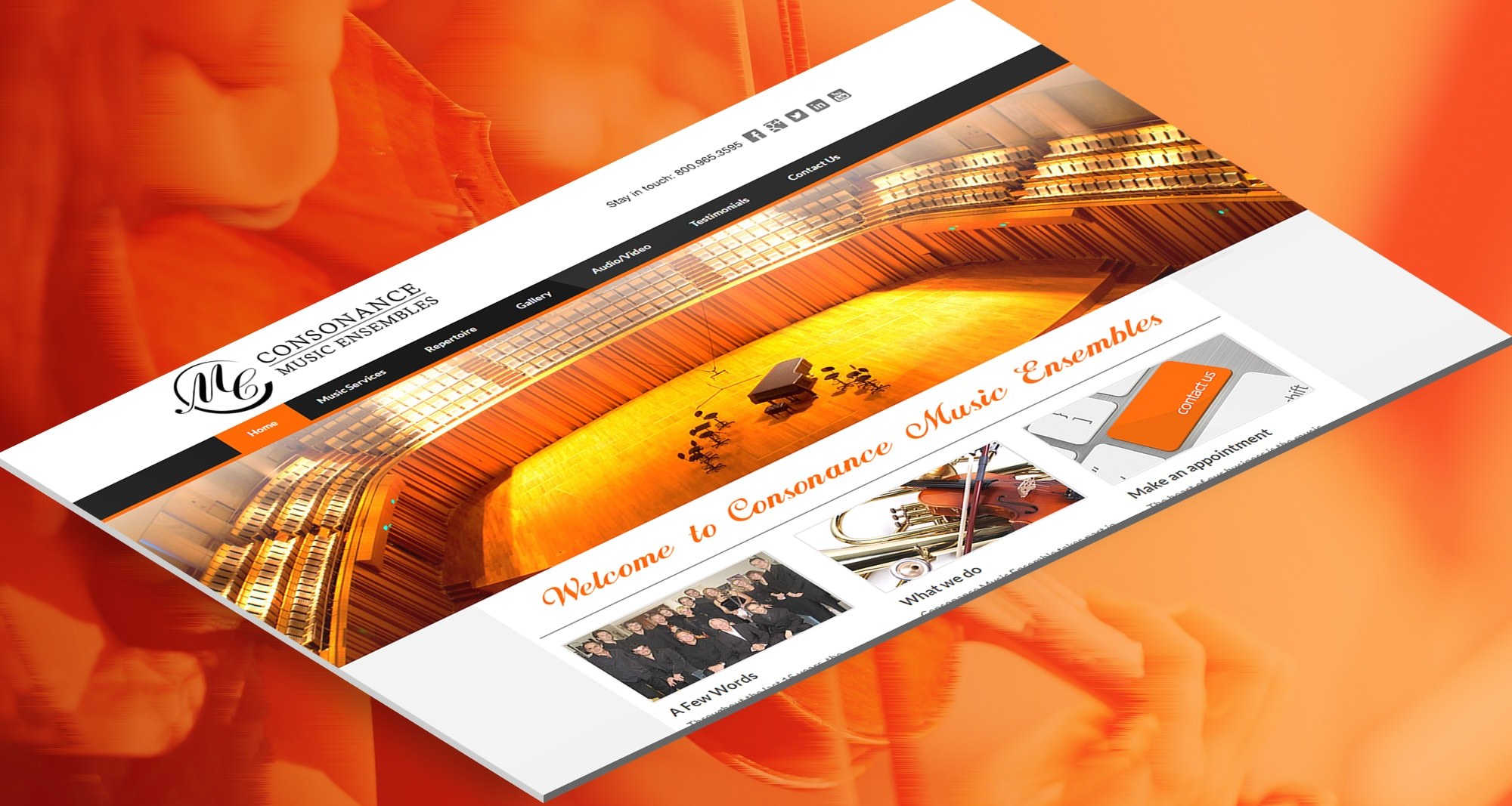 Consonance Music Ensembles Marketing