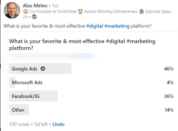 Favorite digital marketing platform