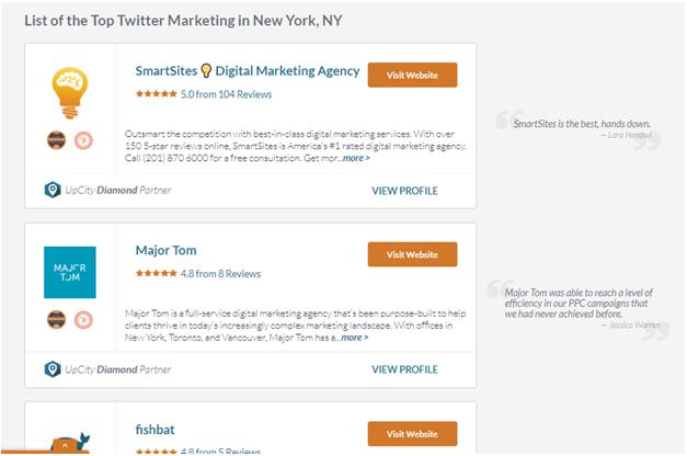 best Twitter marketing agency in New York