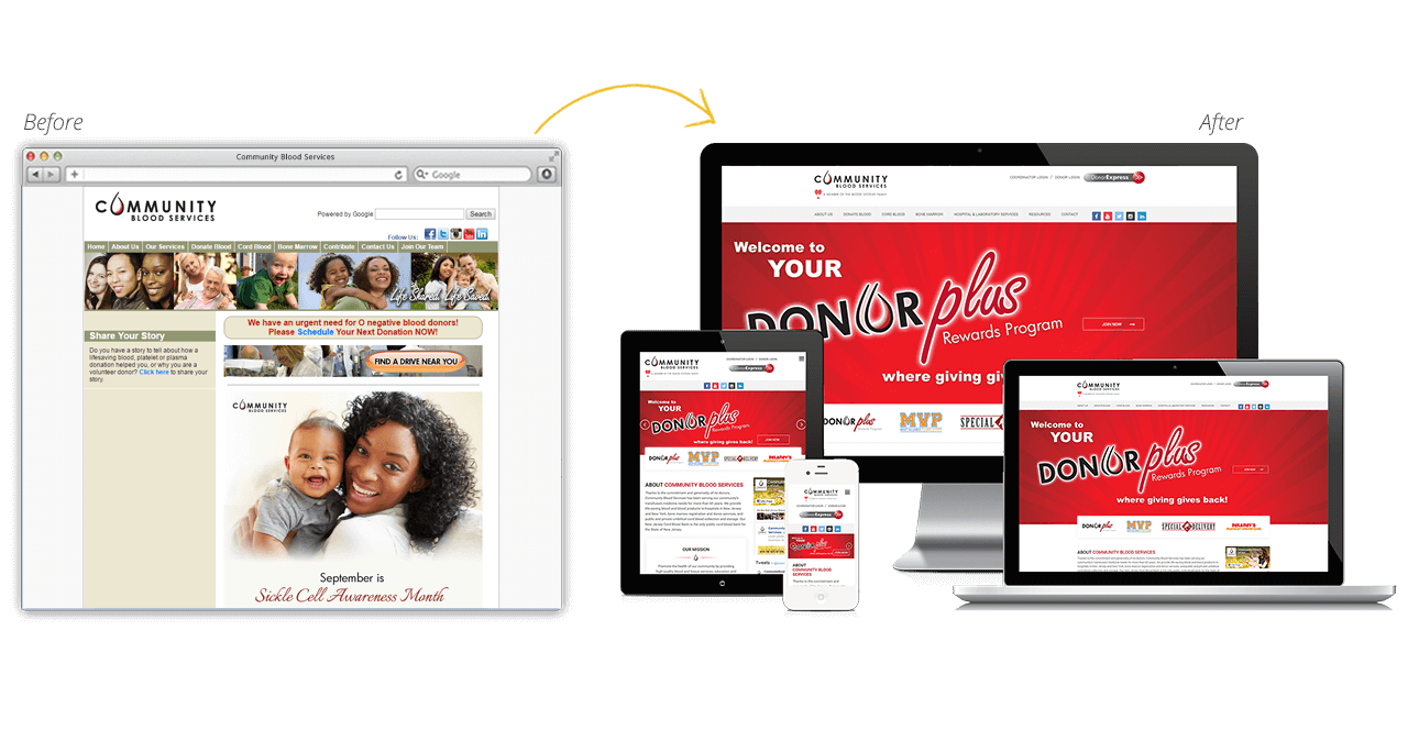 Community Blood Services Launches New Website