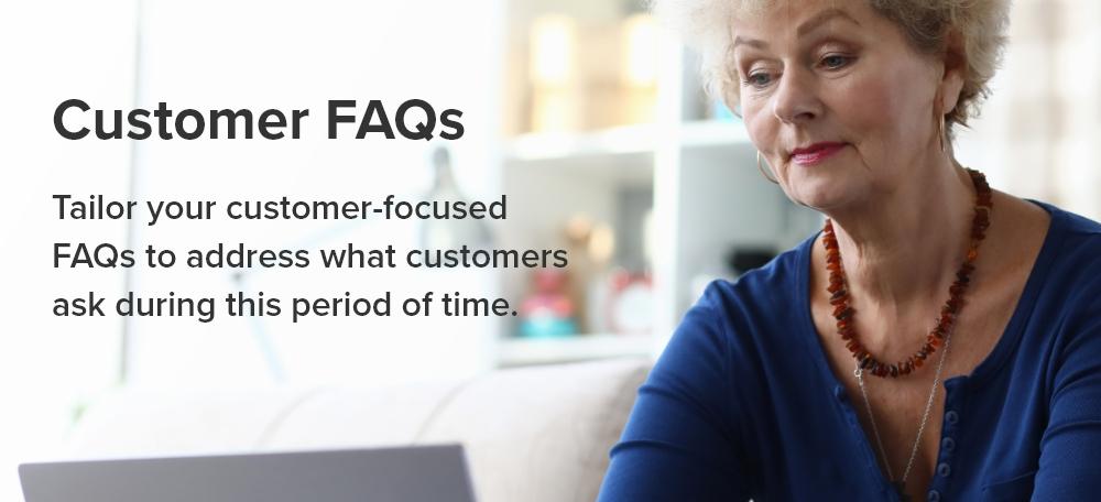 customer FAQs