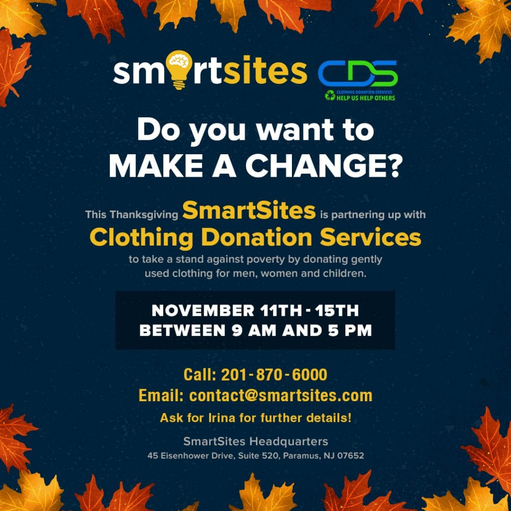 SmartSites Gives Back With A Clothing Fund Drive
