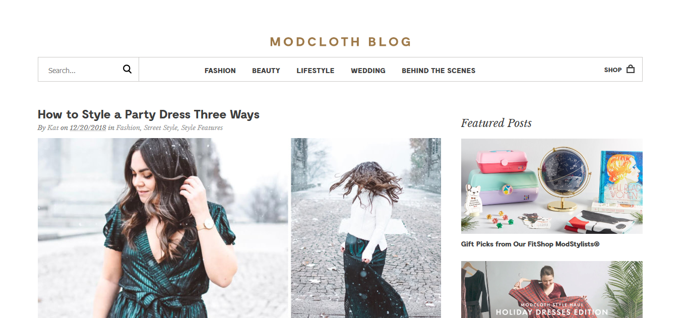 Mod cloth blog