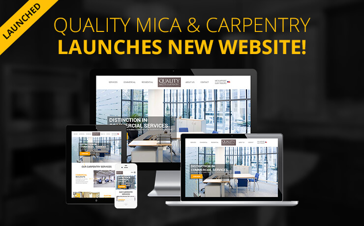 SmartSites Redesigns Logo and Website for Quality Mica & Carpentry