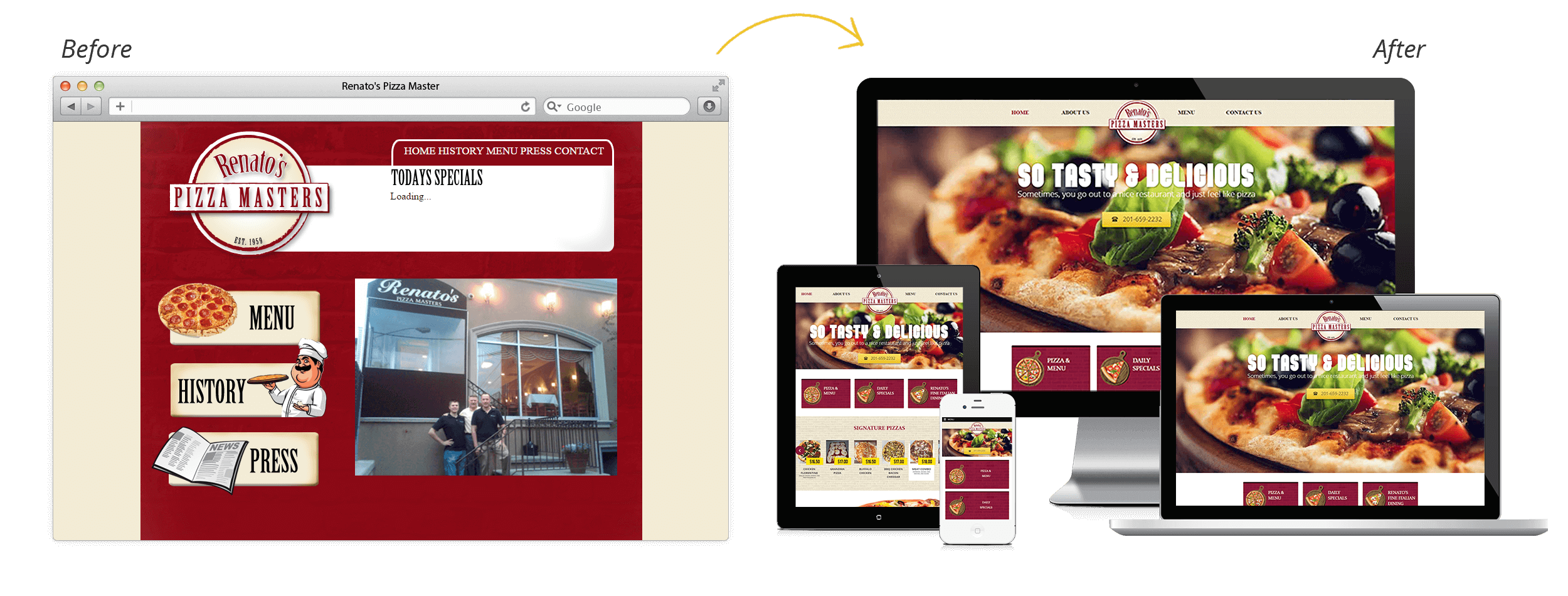 Renato's Pizza Masters Launches New Website!
