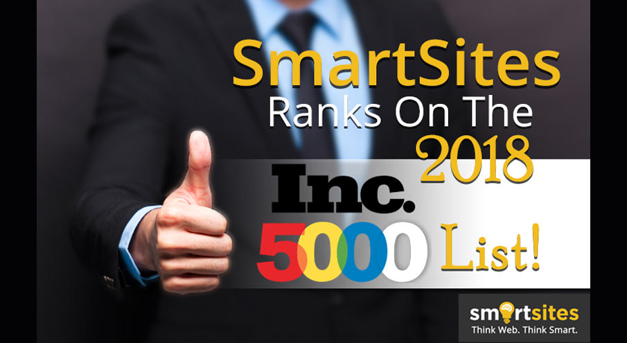 SmartSites Ranks On The 2018 Inc. 5000 List!
