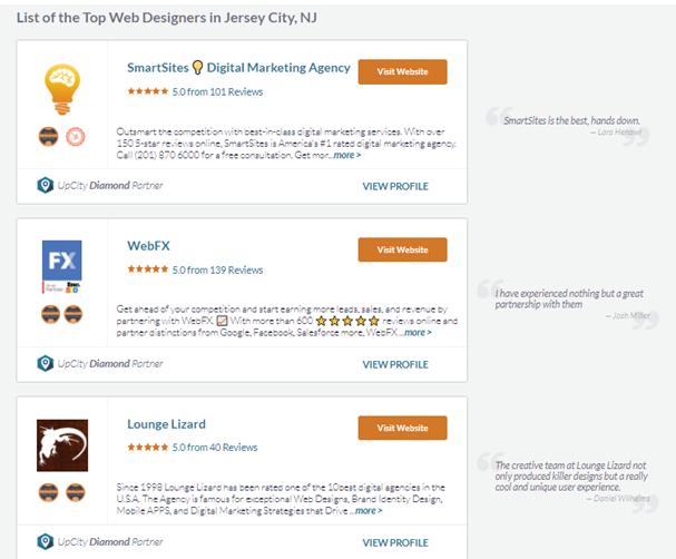 UpCity Jersey City web designer