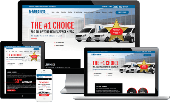A-Absolute Plumbing Web Design Home Services