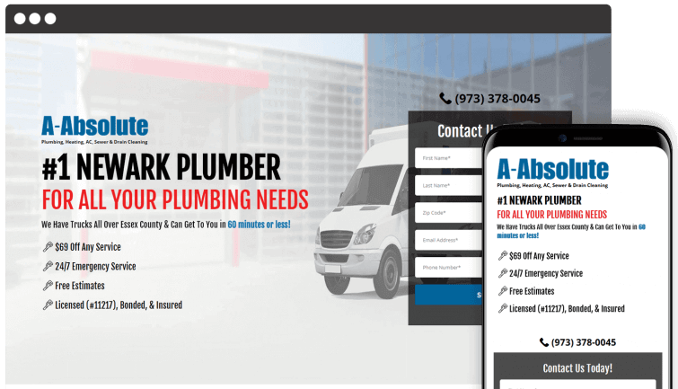A-Absolute Plumbing: Homeservices Website Redesign