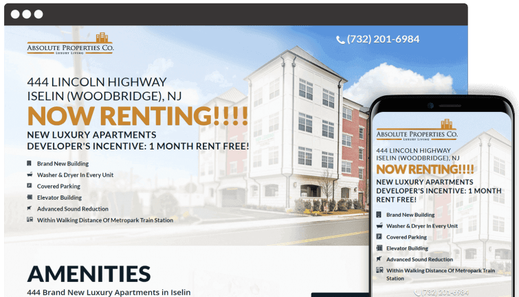 Absolute Properties Co: Local Business Website Redesign