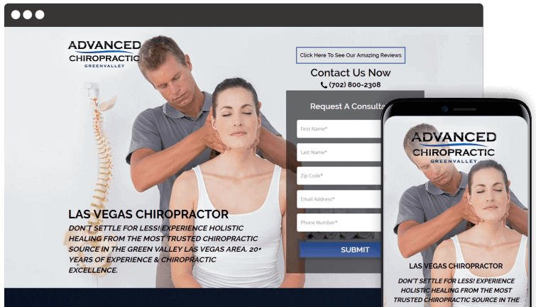 Advanced Chiropractic Greenvalley: Medical Website Redesign