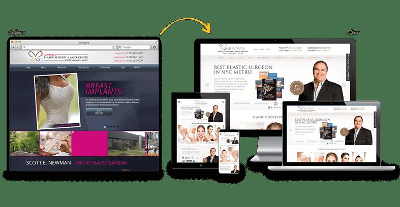 Advanced Plastic Surgery & Laser Center: Medical Website Redesign