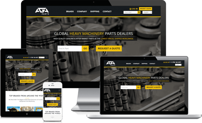 Custom website design for a truck parts supplier