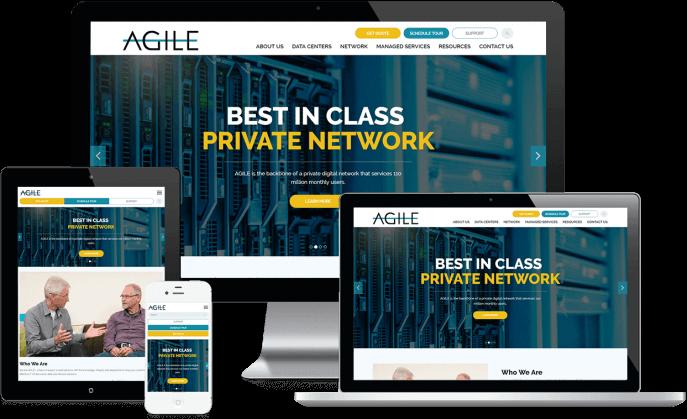 Custom website design for an IT infrastructure firm