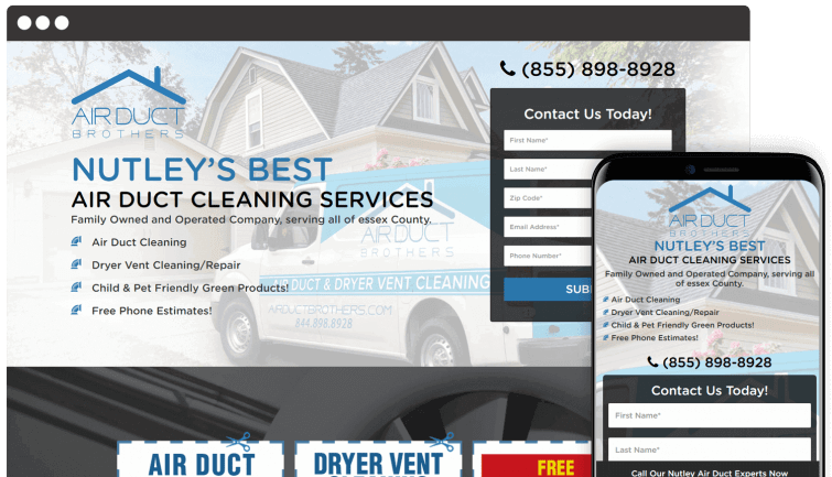 Airduct Brothers: Homeservices Website Redesign