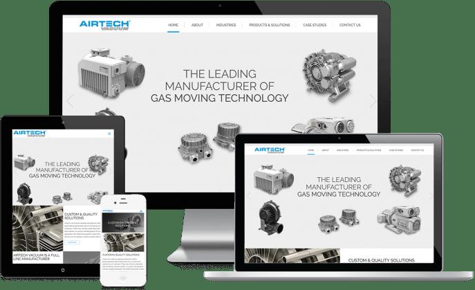 Custom website design for a vacuum pump company