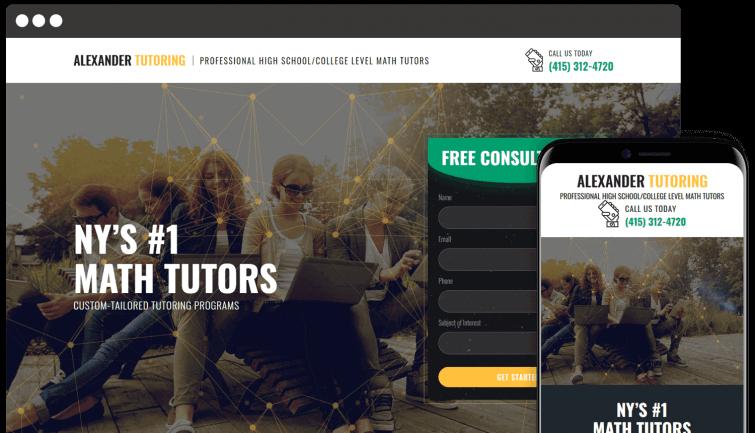 Alexander Tutoring: Local Business Website Redesign