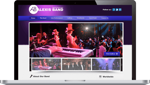 Alexis Band Web Design Small Business