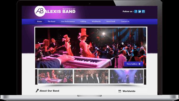 Alexis Band Web Design Custom Website
