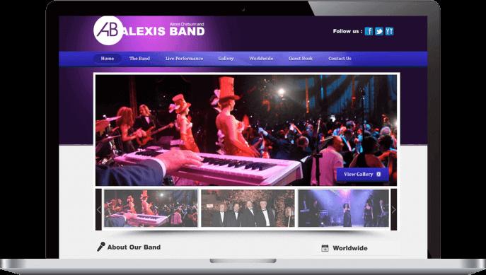 Custom website design for musicians