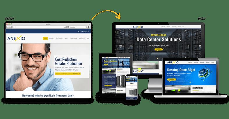 Anexio: B2B Website Redesign