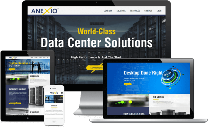 Custom website design for IT solutions