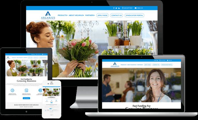 Custom website design for a funding company
