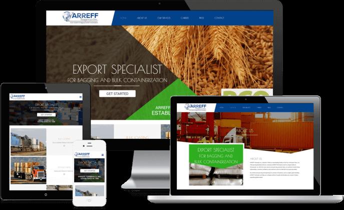 Custom website design for a transloading facility