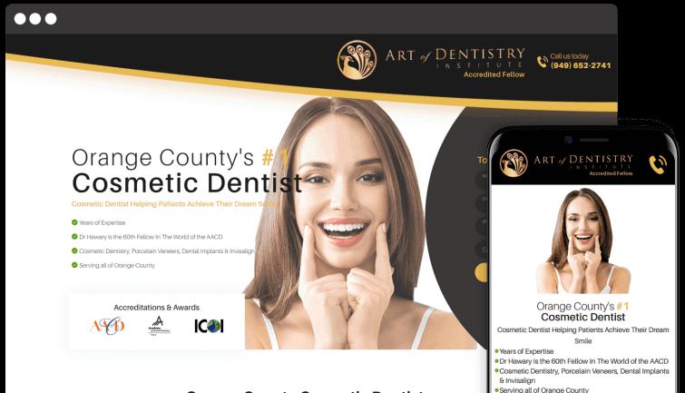 Art of Dentistry Institute: Medical Website Redesign