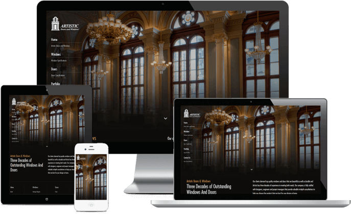 Custom website design for window installers