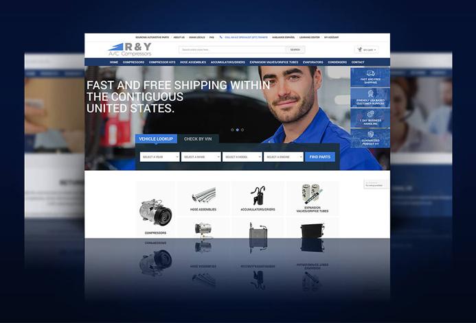 R & Y A/C Compressors Magento Website