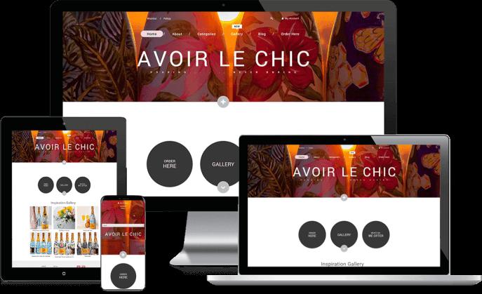 Custom website design for unique gifts