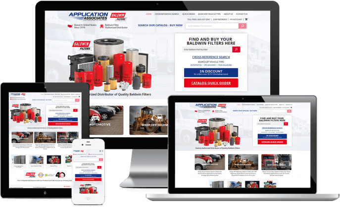 Ecommerce website for auto filters