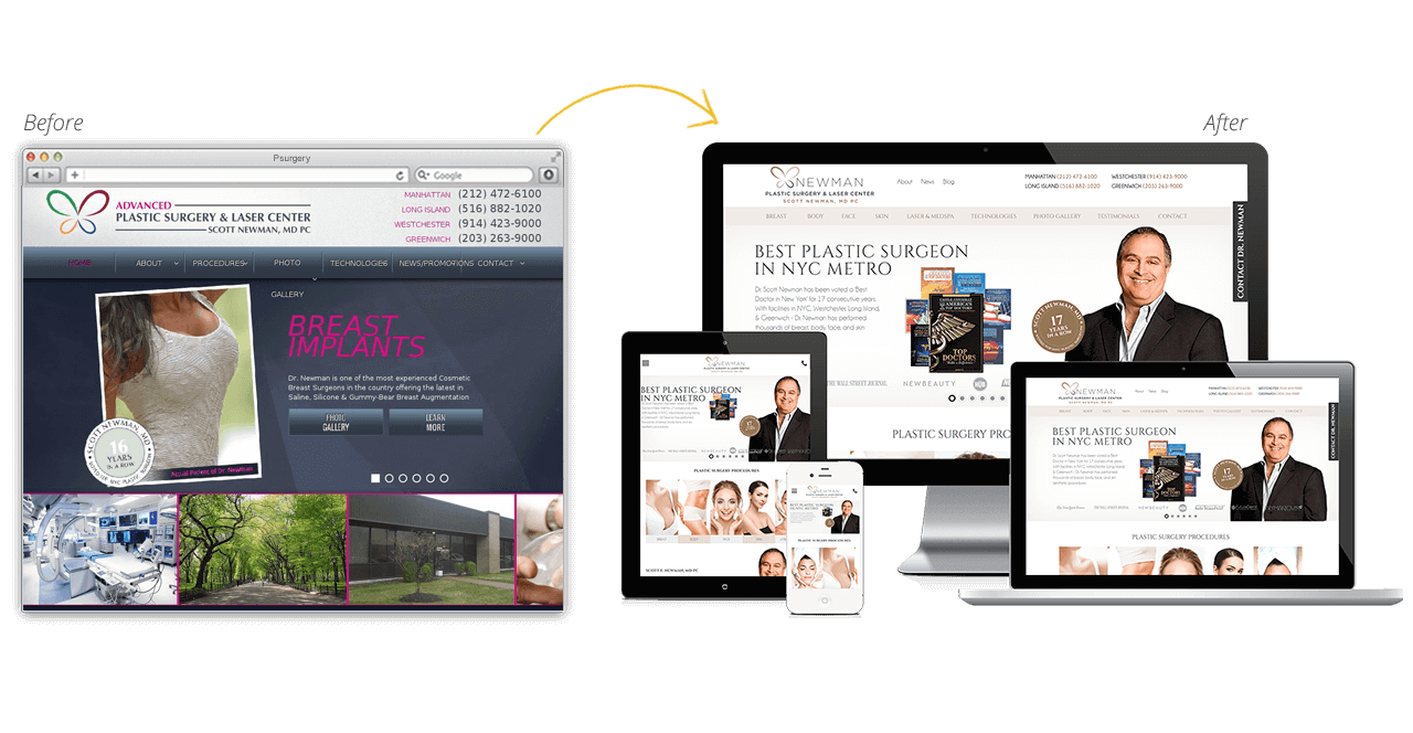 Plastic Surgery Website Gets A Cosmetic Makeover!