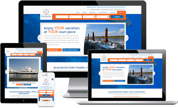 Custom website design for a marina