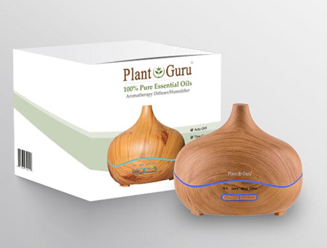 Branding print box packaging design for ThePlantGuru