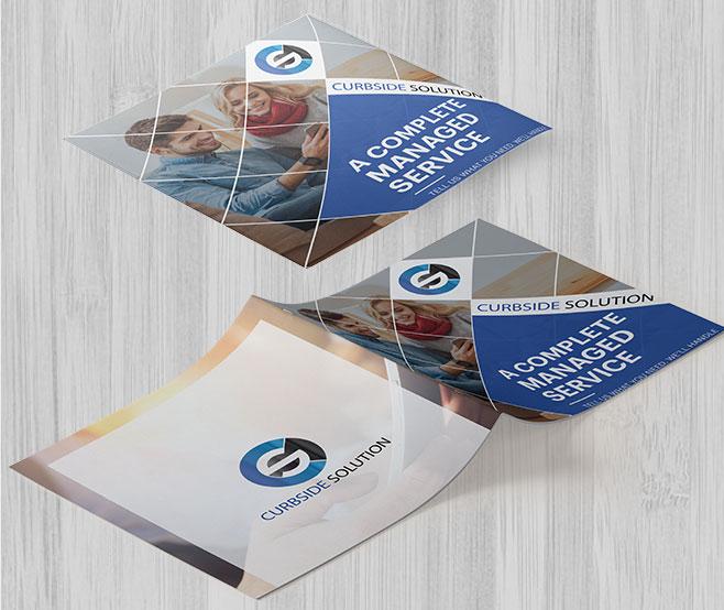Brochures Design For Curbside Solution