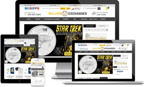Bullion Exchanges Web Design Ecommerce