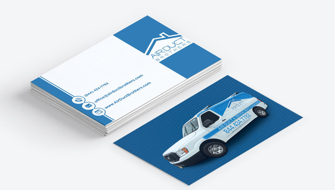 Business Cards Collateral Air Duct Brothers