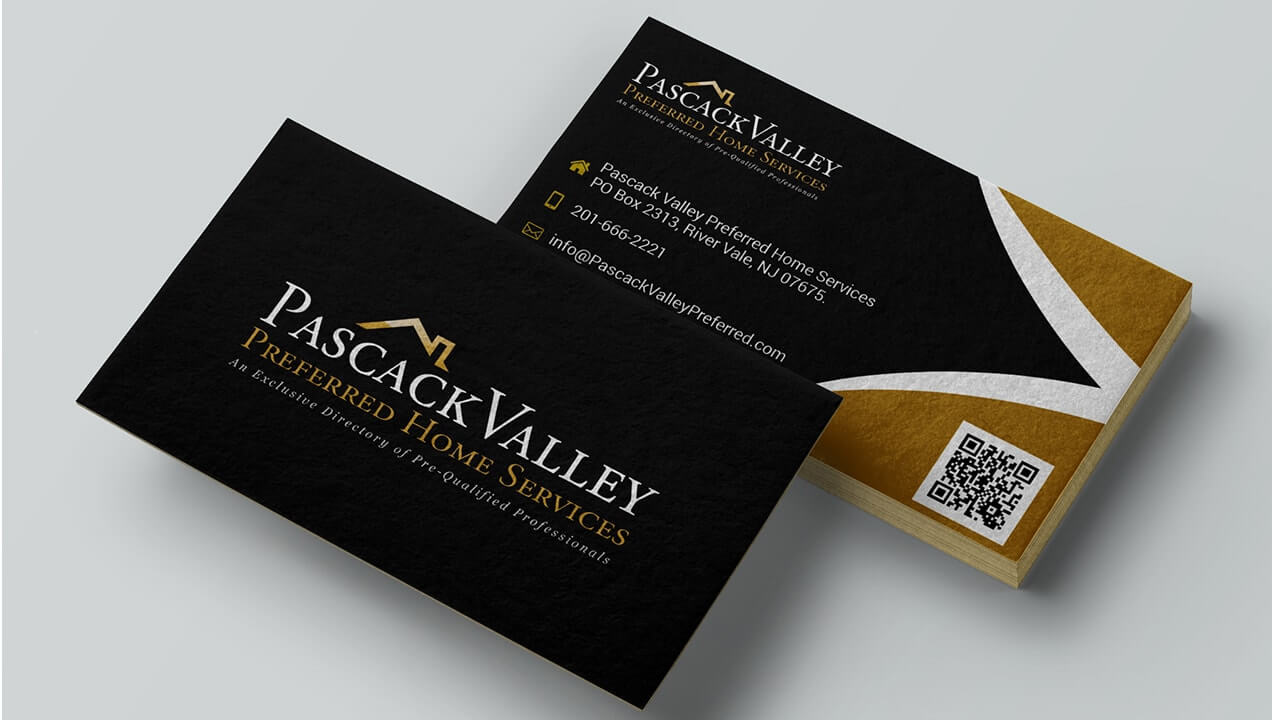 Pascack Valley Home Services Business Card design