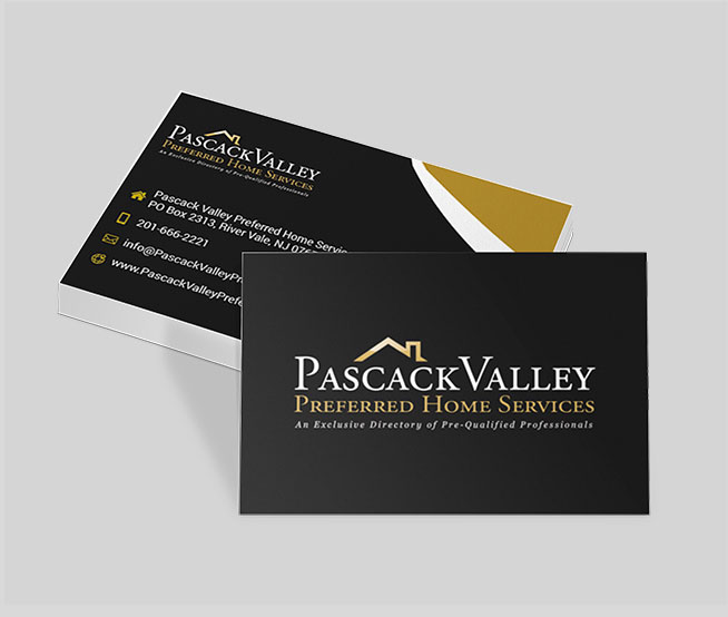 Business Cards & Stationary For Pascack Valley