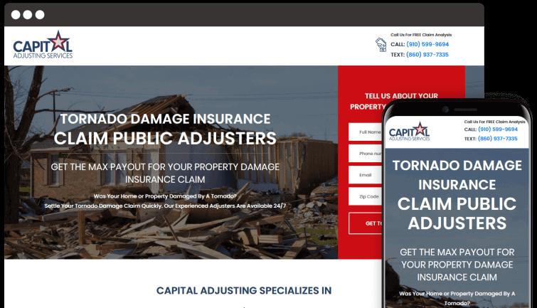 Capital Adjusting Services: B2C Website Redesign